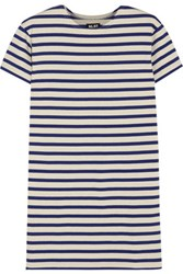 Nlst True Striped Cotton Jersey Mini Dress Ecru