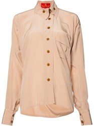 Vivienne Westwood Red Label Squiggle Krall Shirt Pink Purple