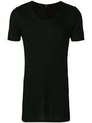 Unconditional Ribbed Scoop Neck T Shirt Black