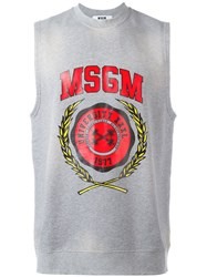 Msgm Shortsleeved Sweatshirt Grey