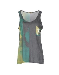 Amaranto Sleeveless T Shirts Grey
