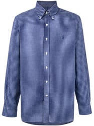 Polo Ralph Lauren Plaid Button Down Shirt Blue