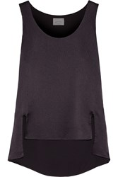 Maiyet Asymmetric Textured Silk Top