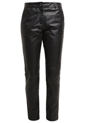 Oakwood Leather Trousers Noir Black