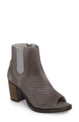 Bos. And Co. Women's Brianna Perforated Chelsea Boot Grey Suede