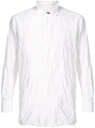 Casey Casey Creased Long Sleeved Shirt Cotton L White
