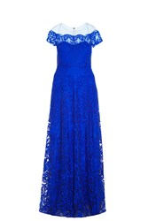 Notte By Marchesa Sheer Shoulder Gown