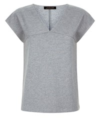 Jaeger Jersey Textured Block T Shirt Grey
