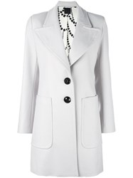 Eggs Wide Lapel Coat Grey