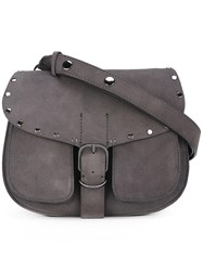 Rag And Bone 'Biker Saddle' Bag Grey