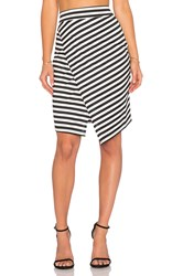 Wayf Wrap Skirt Black And White