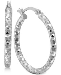 Giani Bernini Multi Textured Hoop Earrings In Sterling Silver Only At Macy's