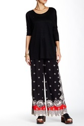 Angie Printed Soft Pant Black