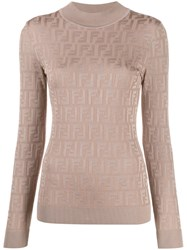 Fendi Knitted Ff Motif Patterned Sweater 60