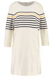 Armor Lux Jumper Dress Nature Marine Deep Gold Off White