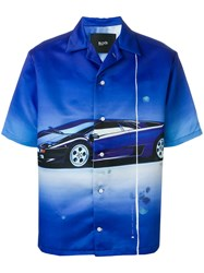 Blood Brother Superfast Printed Shirt Blue