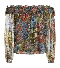 Needle And Thread Flowerbed Print Off The Shoulder Top Female Multi