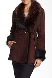 Genuine Dyed Silver Fox Fur Shawl Collar Coat