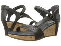 Teva Capri Wedge Pearlized Black Women's Wedge Shoes Multi