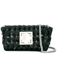 Sonia Rykiel Le Copain Shoulder Bag Women Cotton Lamb Skin Polyester One Size Black
