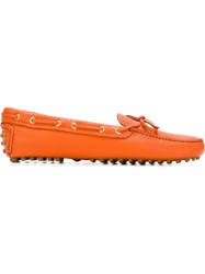 Car Shoe Classic Driving Shoes Yellow And Orange