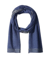 John Varvatos Jersey Whip Stich Midnight Scarves Navy
