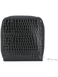 Maison Martin Margiela Mm6 Embossed Crocodile Effect Wallet Black