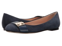 Furla Metropolis Ballerinas Navy Suede Women's Shoes Blue
