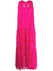 Gianluca Capannolo Lace Maxi Dress Pink