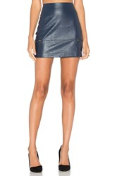 Lovers Friends Good To Be Bad Mini Skirt Navy