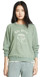 The Great Great. College Sweatshirt With Crest Basil Heather