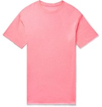 The Elder Statesman Cashmere And Silk Blend T Shirt Bright Pink