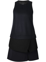 Neil Barrett Tiered A Line Tank Top Black