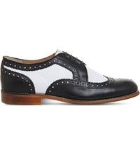 Office Billie Two Tone Leather Brogues Black White Leather