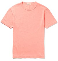 Alex Mill Slub Cotton Jersey T Shirt Coral