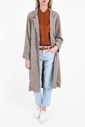 Raquel Allegra Women S Print Rope Trench Boutique1 Taupe Prnt