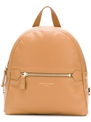 Longchamp Small Zipped Backpack Nude And Neutrals