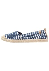 Roxy Flamenco Espadrilles Navy White Blue
