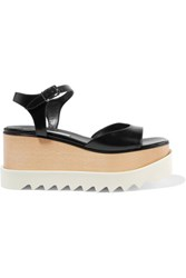 Stella Mccartney Faux Leather Platform Sandals Black