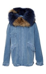Mr And Mrs Italy Summer Denim Mini Parka Blue