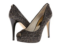 Michael Michael Kors York Platform Cheetah Brown Cheetah Glitter High Heels Animal Print