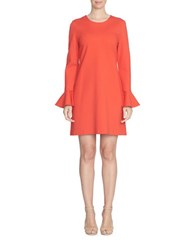 Cece Ponte Bell Sleeve Fit And Flare Dress