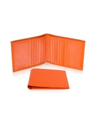 Giorgio Fedon Classica Men's Orange Calfskin Card Holder Wallet