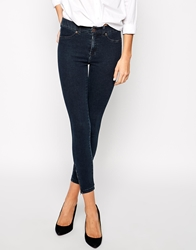 Dr. Denim Dr Denim Domino Skinny Jeans With Ankle Zips Darkwash
