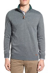 Ted Baker Men's London 'Mandra' Quarter Zip Pullover Charcoal
