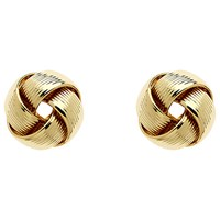 Monet Knot Stud Earrings Gold