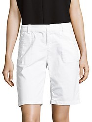 Saks Fifth Avenue Solid Cotton Blend Shorts White