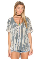 Michael Stars Naomi Wash Peasant Top Green