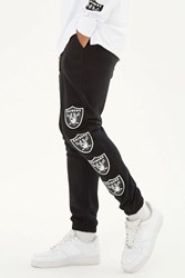 Forever 21 Nfl Raiders Fleece Sweatpants Black White