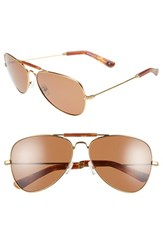 Women's Freida Rothman 'Alex' 60Mm Unisex Aviator Sunglasses Tortoise